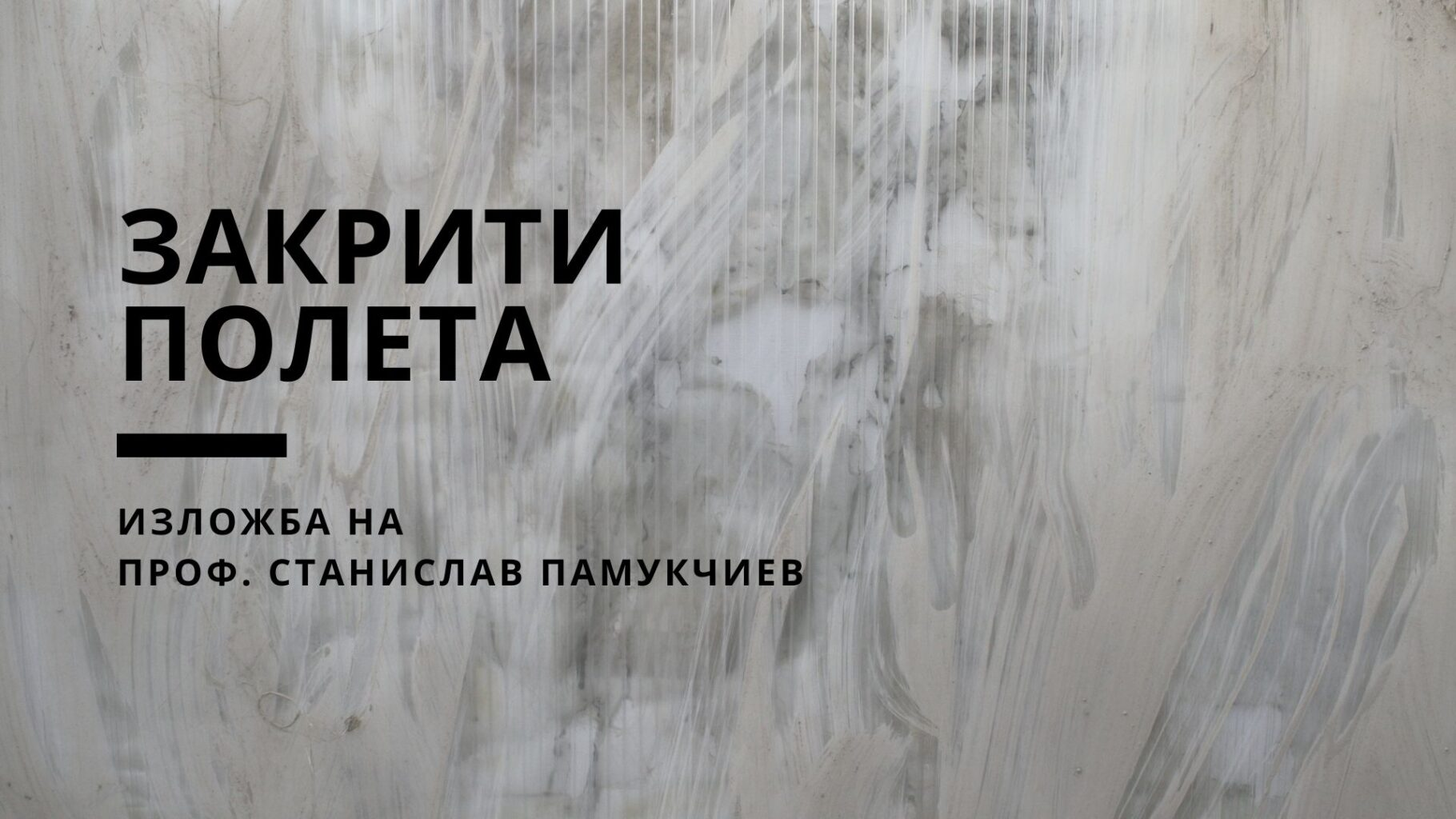 ЗАКРИТИ ПОЛЕТА – Изложба на проф. Станислав Памукчиев